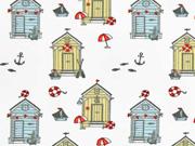 Jersey kleine Strandhäuser, weiß