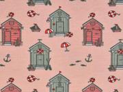 Jersey kleine Strandhäuser, rosa
