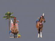 Jersey Panel Pferd Aloha Stenzo dunkelgrau
