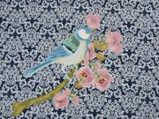 Jersey Panel Vogel Stenzo, jeansblau