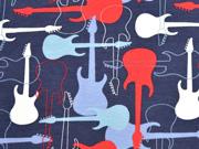 Jersey Guitarren Stenzo, blau rot