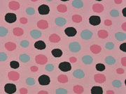Bio-Jersey Stenzo Punkte mehrfarbig, rosa