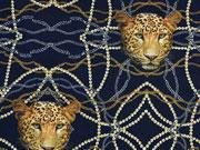 Jersey Stenzo Leopardenköpfe, dunkelblau