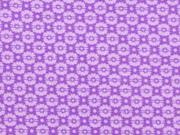Baumwolle Mini Blümchen, lila