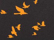 RESTSTÜCK 48 cm Jersey Wildvögel nachtblau