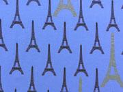 Jersey Glamorous Paris, blau