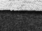 RESTSTÜCK 37 cm Strickfleece mit Teddy , anthrazit grau
