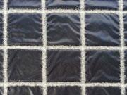 Steppstoff mit Wollfutter Quadrate, nachtblau