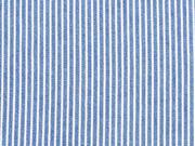 leichter Jeans Streifen, weiss auf hellblau