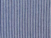 leichter Jeans Streifen, weiss auf indigoblau