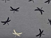 Jersey Glitzer Libelle, grau