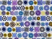 Butterweicher Flanell Mandalas, blau