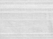 RESTSTÜCK 68 cm Baumwollstoff gemusterten Streifen, weiss