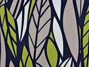 Leinen Gräser, hellgrün/dunkelblau