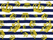 Jersey Streifen & Kronen Knippie, ockergelb