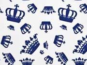Jersey Kronen Knippie, blau-weiß