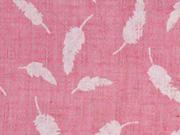 Leichter Strukturstoff Federn, rosa