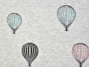 RESTSTÜCK 76 cm Sweat Ballons Mies & Moos, grau melange