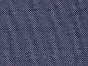 Piqué T-Shirt Stoff Baumwolle uni, dunkelblau