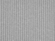Leinen/Baumwolle Nadelstreifen, grau beige meliert