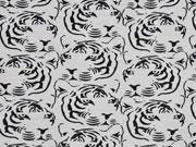Jersey Tigerkopf, schwarz grau