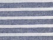 leichter Baumwollstoff Streifen 1 cm, dunkelblau