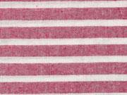 leichter Baumwollstoff Streifen 1 cm, dunkelrot