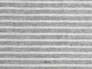 leichte Baumwolle Streifen 4mm, grau melange