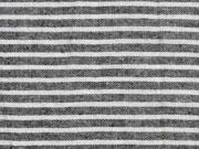 leichte Baumwolle Streifen 4mm, schwarz