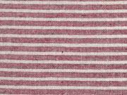 leichte Baumwolle Streifen 4mm, dunkelrot