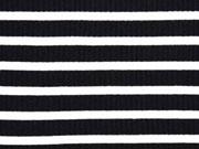 Rippenjersey Streifen, weiss schwarz