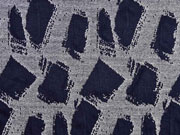 Strukturjersey Trapez, dunkelblau