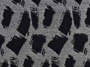 Strukturjersey Trapez, schwarz