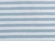 RESTSTÜCK 27 cm Jersey Streifen, eisblau-weiß