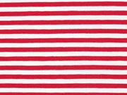 Jersey Streifen, rot weiß