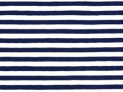 Jersey Streifen 5 mm, dunkelblau weiß
