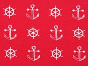 Jersey Anker & Steuerräder, rot