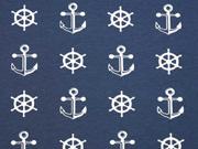 Jersey Anker & Steuerräder, dunkelblau