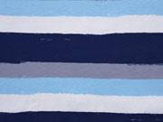 Jersey Pinselstreifen, blau/weiß/grau
