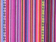 Mexiko Stoff Streifen und Borten , Rottöne