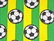 Baumwolle Fußball Streifen, grün gelb