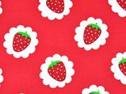 Baumwolle Lecker Erdbeeren, rot