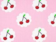 Baumwolle Lecker Kirschen, rosa