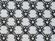 Stretchbaumwolle Gittermuster, grau schwarz