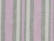 Leinen Viskose Streifen, ecrue beige rosa