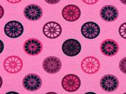 Jerseystoff Orangenscheiben, rosa