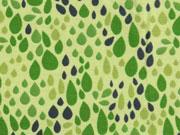 Jerseystoff Tropfen, dunkelgrün hellgrün
