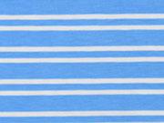 Jersey Doppel-Streifen, hellblau