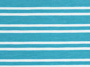 Jersey Doppel-Streifen, dunkelmint