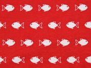 Jersey kleine Fische, rot